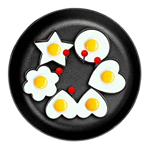Fried Egg Ring Mold Cooker,[Upgraded,Reinforced,Thicker]MayPal 5PCS Different Shapes Stainless Steel Set Fried Pancake Mold Cooking Kitchen Tool