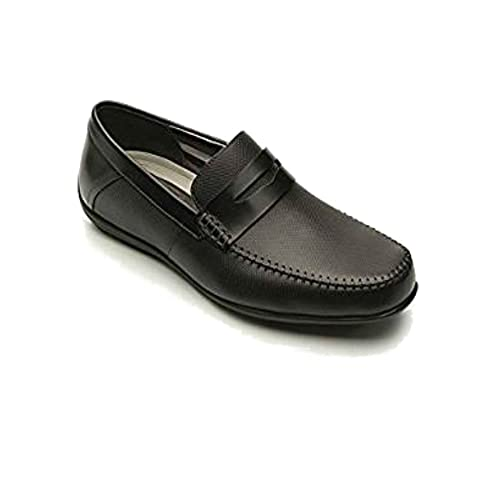 Flexi Shoes Mocasines de Piel Para Hombre Negro Negro 40 EU, Color Negro, Talla 40 EU: Amazon.es: Zapatos y complementos