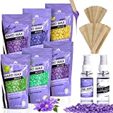 Hard Wax Beans Wax Beads 21oz - Painless Coarse Hair Removal - For Bikini Brazilian Underarms Back and Chest