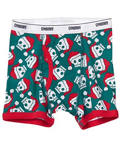 Gymboree Little Boys' Printed Boxer Brief, Holiday Skull
