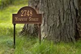 Metal Address Plaque Personalized Cast Lawn Mounted Arch Plaque. Display Your Address and Street Name. Custom House Number