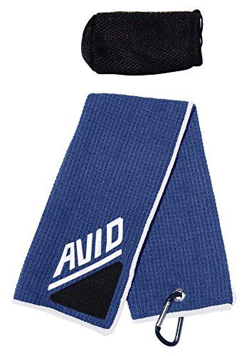 Golf Towel Brush Blue White