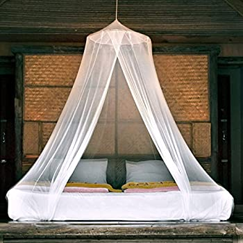 Amazon Com Elegant Mosquito Net Bed Canopy Set White