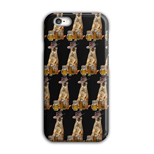 (Drunk Animal Beer Case for iPhone, 6 / 6S Funny Non-Slip Cover - Slim Fit, Comfortable Grip, Protective Case by Wellcoda)