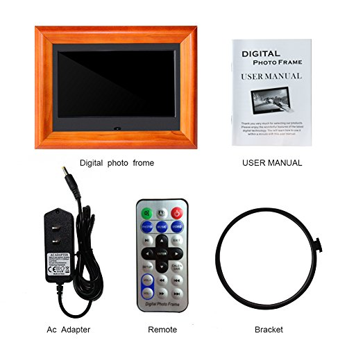 Electronic Electric Video Music Calendar Timer Auto On//Off with Remote Control Digital Frame Wood 16:9 Digital Photo Frames SZSUPER 7 inch Digital Picture Frame High Resolution LCD