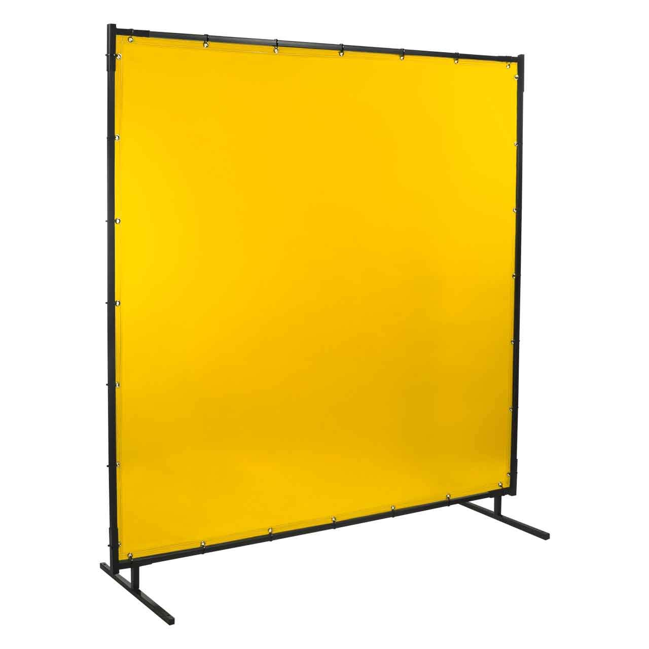 Steiner 534HD-6X8 Protect-O-Screen HD Welding Screen with Flame Retardant 14 Mil Tinted Transparent Vinyl Curtain, Yellow, 6' x 8' by Steiner