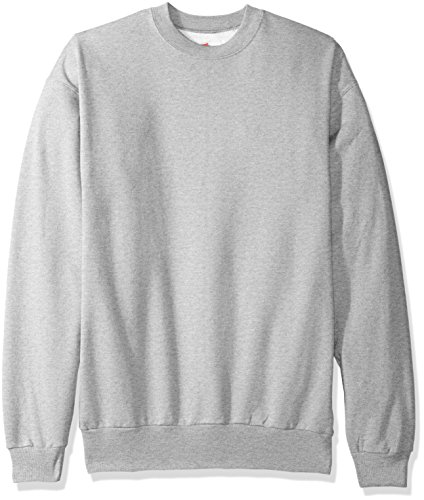 Hanes Ultimate Cotton Crewneck Sweatshirt - Hanes Men's Ecosmart Fleece Sweatshirt,Light Steel,2 XL