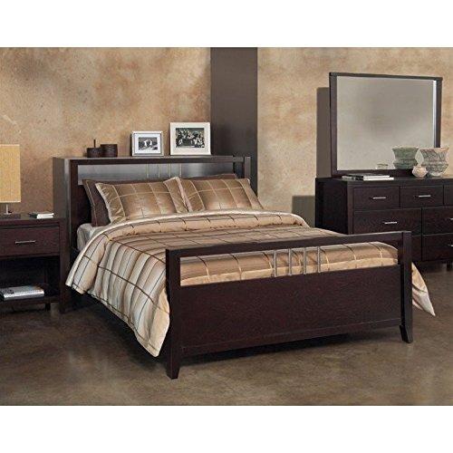 Modus Furniture NV23S7 Nevis Platform Storage Bed, King, Espresso - King Nevis Platform Bed