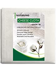 Cheesecloth, Grade 90, Reusable, 100% Unbleached Cotton Fabric, Ultra Fine Cheese Cloth for Cooking - Nut Milk Bag, Strainer (grade 90-1.5 yards)