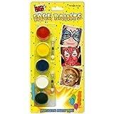 Kit de Pinturas Maquillaje de Rostro para Fiestas Infantiles Rojo Negro Azul Blanco