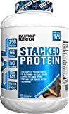 Evlution Nutrition Stacked Protein Protein Powder with 25 Grams of Protein, 5 Grams of BCAA's and 5 Grams of Glutamine (4 LB, Chocolate Peanut Butter)