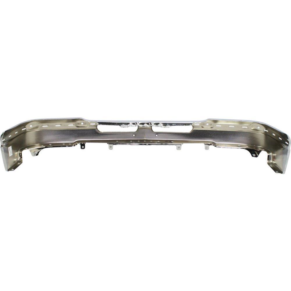 Bumper compatible with Chevrolet Avalanche 02-06//Silverado 03-06 Front Bumper Face Bar Chrome w//License Plate Hole