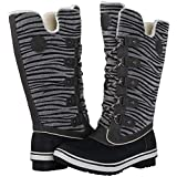 PENGCHENG Men's Fur Lining Snow Boots...