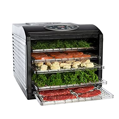 Ivation Electric Countertop Food Dehydrator with 6 Drying Racks, Digital Temperature Controls and Timer with Automatic Shutoff, Even Dry From 95º F To 158º F