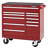 Waterloo Professional Series 11-Drawer Rolling Tool Cabinet with Internal Tubular Keyed Locking System, Red Finish, 41'' W