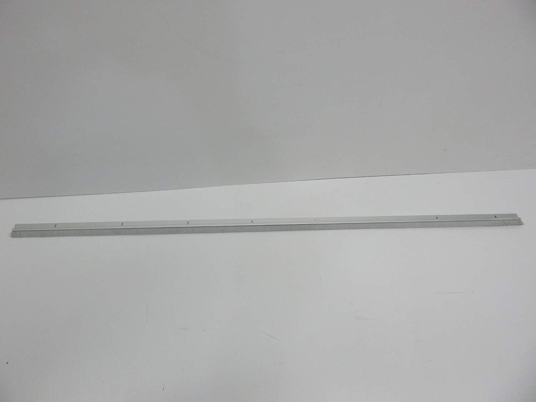 Pemko Brush Door Bottom Sweep 1.375 H x 48 L Тwо Расk Clear Anodized Aluminum with 0.625 Gray Nylon Brush Insert 18061CNB48 0.25 Width