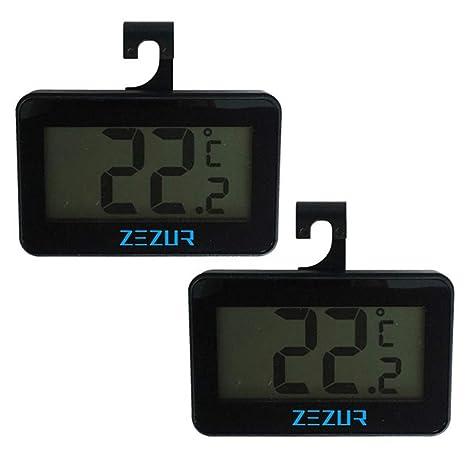 Termómetro de refrigerador, termómetro digital inalámbrico ...