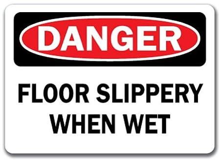 Señal de peligro - Suelo resbaladizo cuando está mojado - 10 ...