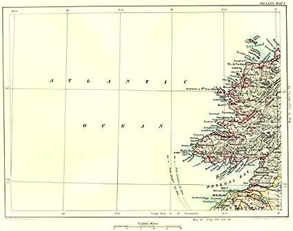 Donegal Map Of Ireland.Amazon Com Donegal Bay Coast Killybegs Malin Ballyshannon