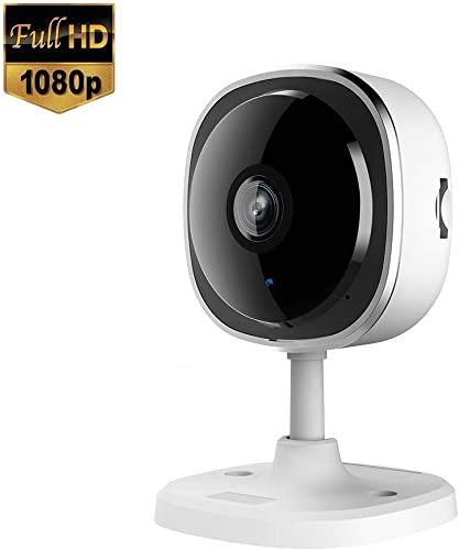 tarigellia Wireless Security Camera 1080P, 180 Panoramic Camera with Night Vision, Two-Way Audio,Wireless Home Camera Support Motion Detection,Up to 128GB SD Card 1 Pack