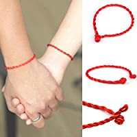10 Pcs Hand Braided Chinese Red Simple Style Lucky String Rope Cord Bracelet by khime