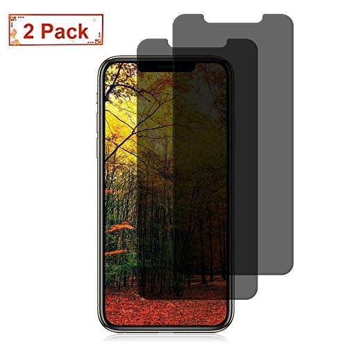 Price comparison product image [2 Pack] iPhone XR Screen Protectors Loopilops Privacy Tempered Glass Screen Protectors [No Bubbles] [9H Hardness] [3D Touch] Compatible Apple iPhone XR [6.1 Inch] [2018]