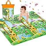 Sasimo Double Sided Baby Mat Waterproof ((Multicolour; Large Size 6.5 X 6 Feet))