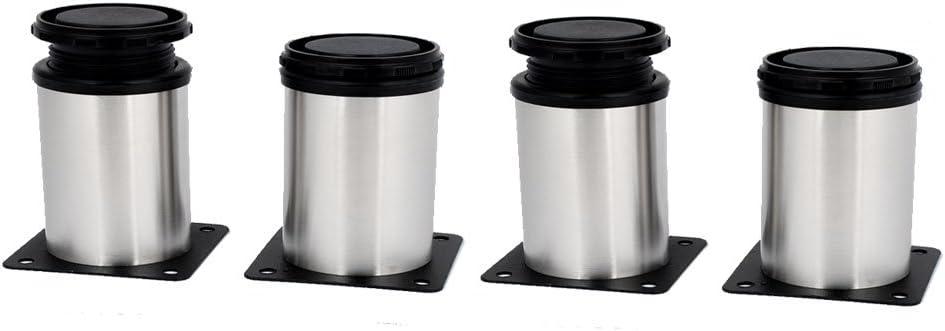 uxcell Kitchen Cabinet Cupboard 50mmx60mm Metal Adjustable Furniture Leg Foot 4pcs