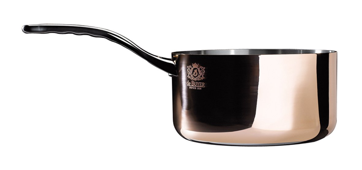 PRIMA MATERA Round Copper Stainless Steel Saucepan 9.5-Inch