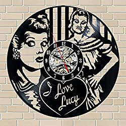 Everyday Arts I Love Lucy TV Series Wall Clock Birthday Gift Housewarming Gift for Adults Parents Women Men New Year Hift Original Gift Family Members Gift Neighbours Gift