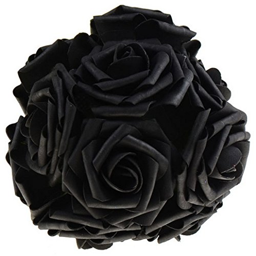 Honmofun Artificial Flowers Black Roses Funeral Flowers Black Rose Bouquet Floral Wedding Flowers Bouquet Candy Bouquet Balloon Bouquets Cookie Bouquets Calla Lily Roses - Halloween Cookie Bouquet