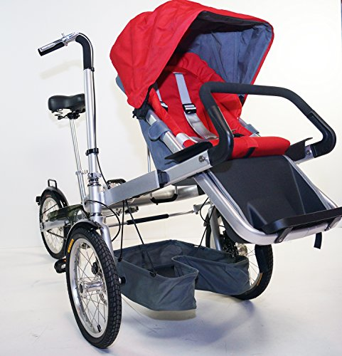 Red Family Stroller Bike for Children 6 Months to 5 Years of Age MCB-01S ALU by USA-MEGASTORE (Image #3)