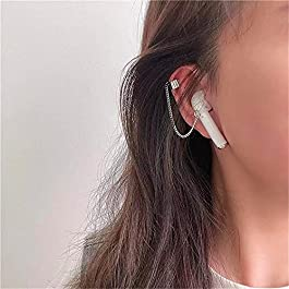 Airpods Wireless Bluetooth Headset Ear Clip Bracket Connection, Titanium Steel Non-Fading Sports Earrings, no Pierced…