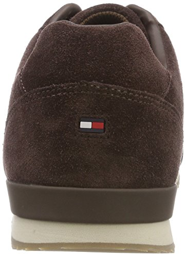 Homme Iconic Tommy Textile Suede Runner 212 Coffee Sneakers Hilfiger Bean Basses Marron r0q5wCxr