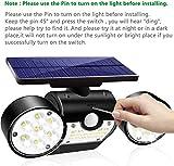 Fatpoom Solar Lights Outdoor 30 LED Solar Powered