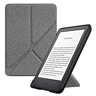 MoKo Case Fits All-New Kindle (10th Generation - 2019 Release Only), Standing Origami Shell Cover with Auto Wake/Sleep, Will Not Fit Kindle Paperwhite 10th Generation 2018 - Denim Gray