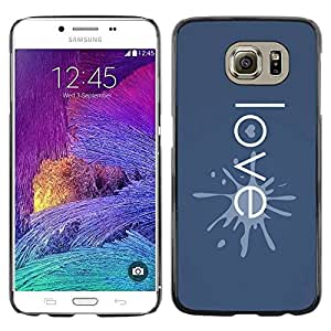 PC/Aluminum Funda Carcasa protectora para Samsung Galaxy S6 SM-G920 Love Typography Heart / JUSTGO PHONE PROTECTOR