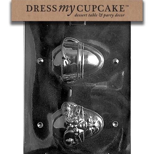 Dress My Cupcake DMCB052 Chocolate Candy Mold, Humpty Dumpty Fairytale Egg, Baby Shower ()