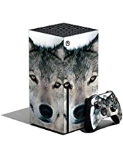 MIGHTY SKINS Skin Compatible with Xbox Series X Bundle - Wolf   Protective, Durable, and Unique Vinyl Decal wrap Cover   Easy to Apply, Remove, and Change Styles   Made in The USA (MIXBSERXCMB-Wolf)