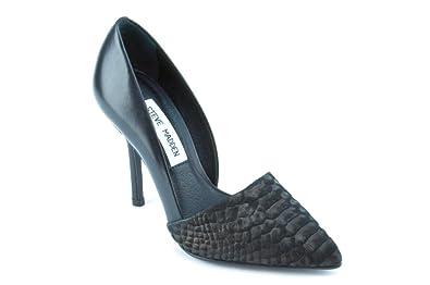 e04e2427bc5 Amazon.com | Steve Madden Frennzy Women's Black Leather Pumps US5.5 ...