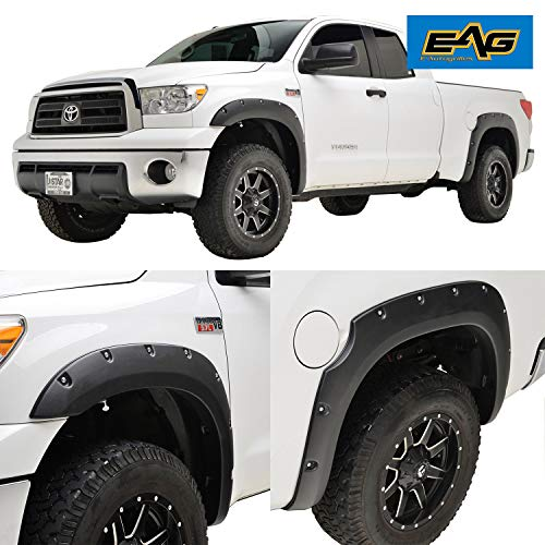 EAG Fender Flares Pocket Rivet Style for 07-13 Toyota Tundra