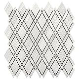 Wallandtile White Oak Lattice Marble Mosaic Tile