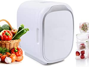 6L Mini Car Fridge, 12V 48W Car Refrigerator Freezer Portable Mini Car Cooler and Warmer for Beer Beverage Seafood Fruits, for Car RV Boat Truck