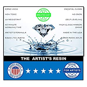 Epoxy Resin Art Resin Crystal Clear Formula – The Artist's Resin for Coating, Casting, Resin Art, Geodes, River Tables, Resin Jewelry- Non-Toxic -32 Oz Kit
