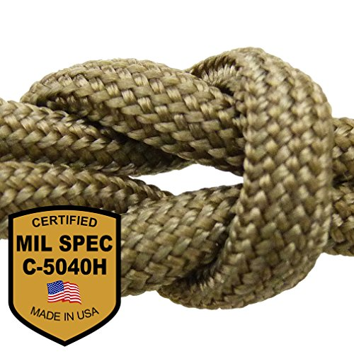MilSpec Paracord / Parachute Cord. 8 or 11 Strand, 600 or 800 lb. Break Strength. Guaranteed Military Specification