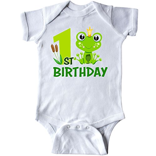 Frog Prince Baby Shower - inktastic 1st Birthday Prince Frog Infant Creeper 18 Months White