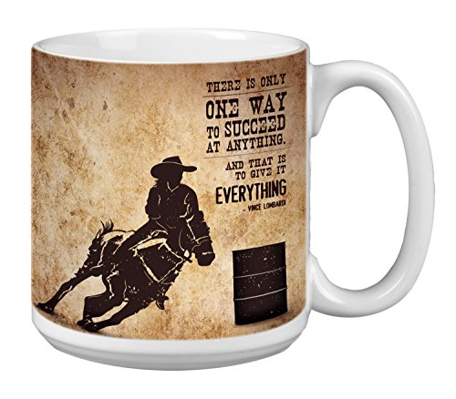 (Tree-Free Greetings Extra Large 20-Ounce Ceramic Coffee Mug, Barrel Racing Themed Inspriational Quote Art (XM63143))