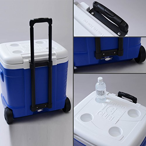 Igloo Ice Cube Roller Cooler (60-Quart, Ocean Blue)