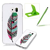 Clear TPU Case for Samsung Galaxy S6,Soft Rubber Cover for Samsung Galaxy S6,Herzzer Slim Elegant [Colorful Printed] Shock-Absorbing Silicone Gel Bumper Flexible Transparent Skin Case for Samsung Galaxy S6
