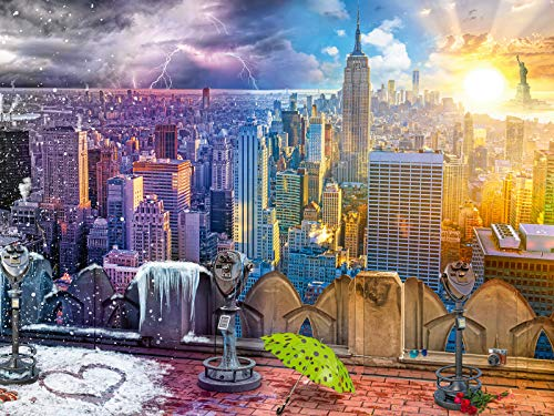 Ravensburger 16008 Day and Night New York Skyline 1500 Piece Puzzle for Adults